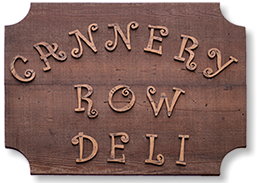 Cannery Row Deli sign